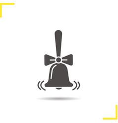 Ringing school bell glyph icon vector