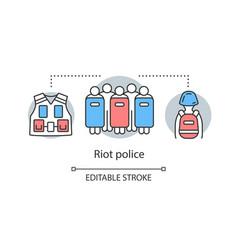 Riot police concept icon civil unrest control vector