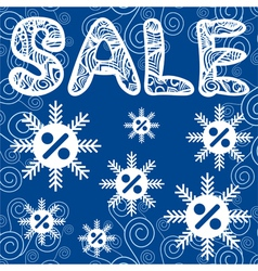 Sale winter vector