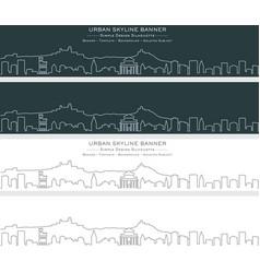 San marino single line skyline banner vector