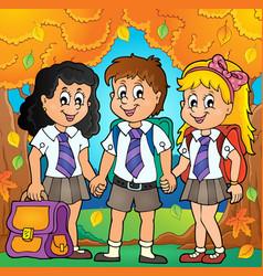 School pupils theme image 6 vector