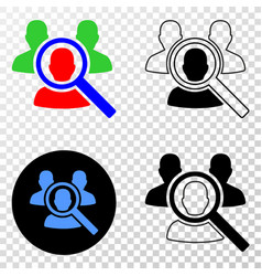 Search people eps icon with contour version vector