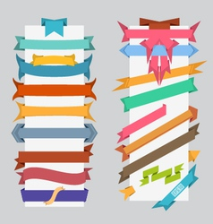 set of color retro ribbons and labels vector image