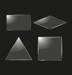 set of glass square rectangular and round frames vector image