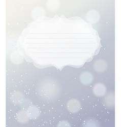 Silver bokeh light background vector image