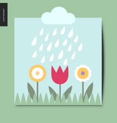 simple things - flowers vector image