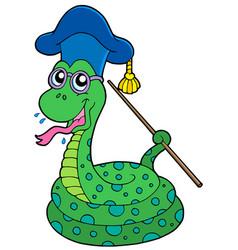 Snake teacher vector