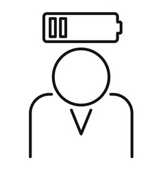 Stress low battery icon outline style vector