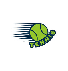 tennis ball logo designs inspiration isolated on vector image