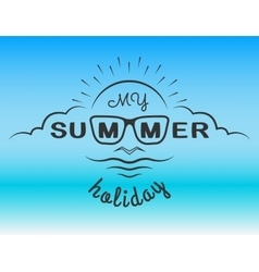The emblem on the theme of the summer vector image