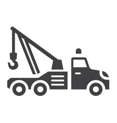 Tow truck glyph icon transport and vehicle vector
