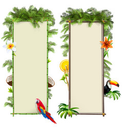 tropics boards set 2 vector image