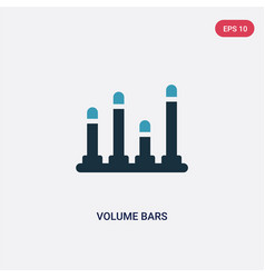 two color volume bars icon from music concept vector image