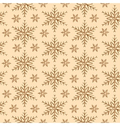 Vintage snowflakes background vector