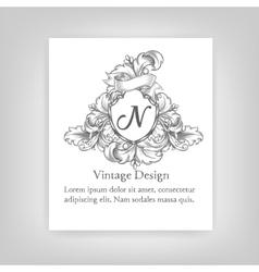 VintageVintage emblem monogram emblem monogram vector image