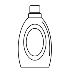 Wash clean bottle icon outline style vector