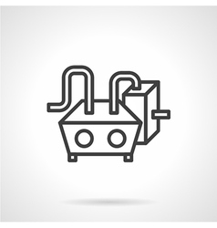 Water heating black line icon vector image