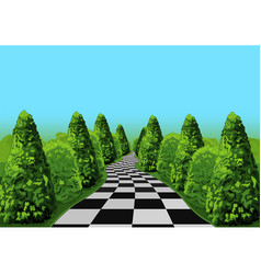 Wonderland road vector