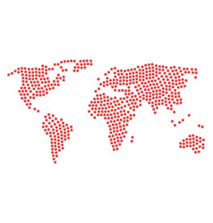 world map pattern of dice items vector image