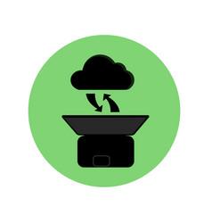 cloud computing black silhouette concept vector image vector image