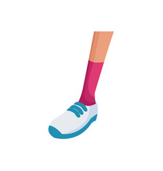foot sneaker sport concept icon vector image vector image