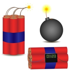 pyrotechnic set vector image