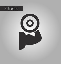 black and white style icon logo bicep vector image vector image