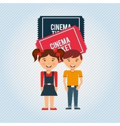 filmed entertainment design vector image