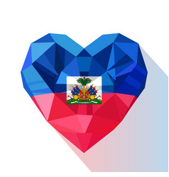 Flat style logo symbol of love haiti vector