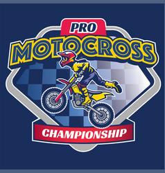 motocross race badge vector image