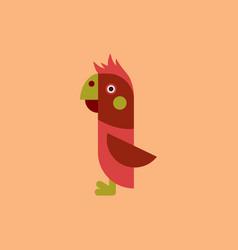 parrot cockatoo parrot bird vector image vector image