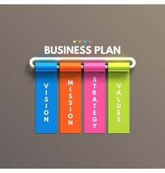 Banner business infographic template Business vector image vector image