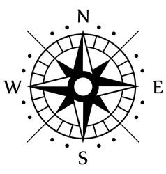 Black Compass Symbol vector image