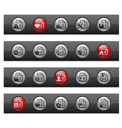 Documents 2 Button Bar Series vector image