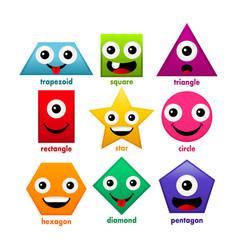 educational cartoon basic shapes vector image