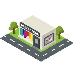 isometric hardware shop paint store vector image