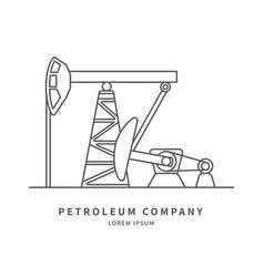 pumpjack logo vector image