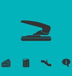 Stapler icon flat vector