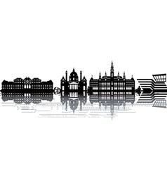Vienna skyline vector image