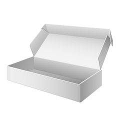 White Package Box Opened For electronic device vector image vector image
