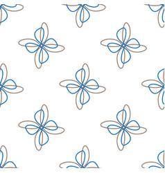 abstract flower white seamless background vector image vector image