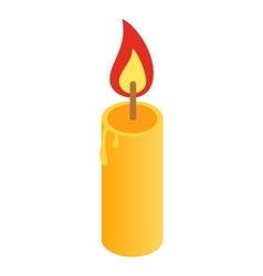 Candle isometric 3d icon vector image