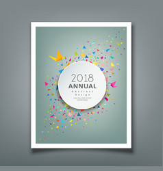 cover annual report colorful paper triangle vector image vector image