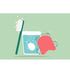 Dental retainer cleaning vector