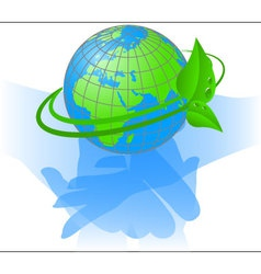 ecology of the planet earth vector image vector image