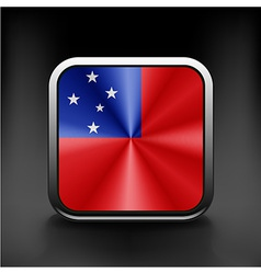 Flag of Samoa national travel icon country symbol vector image vector image