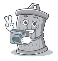photography trash character cartoon style vector image