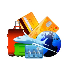 worldwide travel vector image vector image