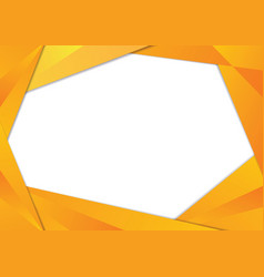 yellow triangle frame border vector image