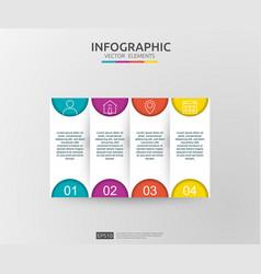 4 steps infographic timeline design template vector